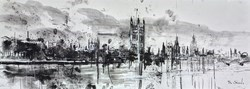 London Westminster at Dusk II by Tim Steward -  sized 43x16 inches. Available from Whitewall Galleries